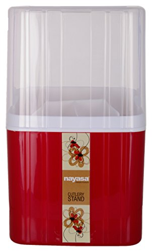 Nayasa Plastic Cutlery Stand, 1 Pieces, Red