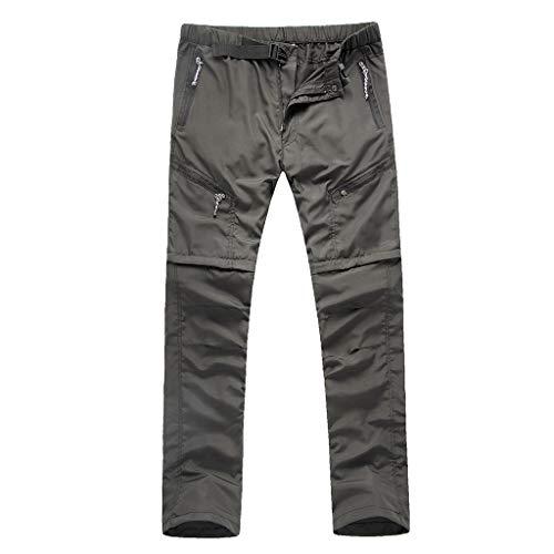Chshe®-Hose Men Casual, Men 'S Hiking Long Pants Schnelltrocknende Hose, Schnelltrocknende Herrenunterwäsche, Viele Taschen - Für Reisen, Camping, Wandern & Spazieren (Schwarz) - Schwarz Reise-hose