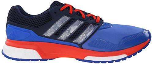 Adidas Response Boost Performance 2 Techfit scarpa da corsa, blu / bianco / arancio in grassetto, 6. Blue / White / Bold Orange