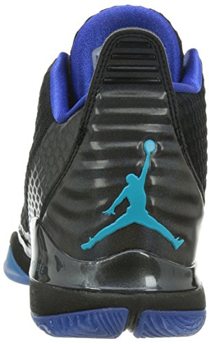 Nike - Jordan Super.Fly 3 Po, Scarpe Baseball da uomo Nero/Blu intenso/Bianco/Blu turchese