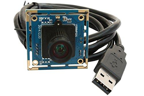 ELP Webcam 8MP Kamera Modul USB mit FOV 75 Grad Keine Verzerrung Objektiv,IMX179 USB mit Kamera UVC-konform Web Kamera Kompatibel for Windows Linux