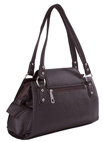 Big Handbag Shop , Damen Henkeltasche Einheitsgröße Schwarz