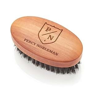 Spazzola da barba - Pennello in legno di pero austriaco, oliato, 100% setole di cinghiale Spazzola per uomo di Percy Nobleman