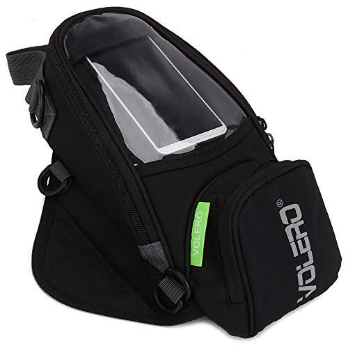 JFG Racing Motorrad-Tanktasche - wasserdichte Motorrad-Gepäcktasche mit starkem Magnet, großem Fenster - Universal-Öl-Tanktasche für Honda, Yamaha, Suzuki, Kawasaki, Harley, BMW, Ducati