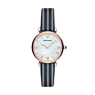 Emporio Armani Reloj Analógico para Mujer de Cuarzo con Correa en Cuero AR11224