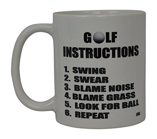 Männer, Die Humor Tees (Best Funny Golf Kaffee Becher Golf Anweisungen Novelty Tasse Witz Gag Geschenk Idee für Büro Arbeit Erwachsene Humor Mitarbeiter Boss Golfer)