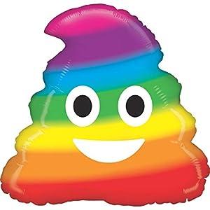 GRABO 35681-P - Globo de plástico con diseño de arcoíris