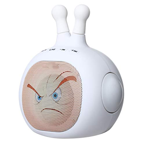 Janly_Intelligent AITISIN Supersonic Expression Man Tragbarer / wiederaufladbarer Lautsprecher + Bluetooth + USB / TF / LED (weiß)