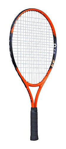 Nivia 7053 Graphite-Lined-Aluminum Tennis Racket, 23-inch (Orange/Black)