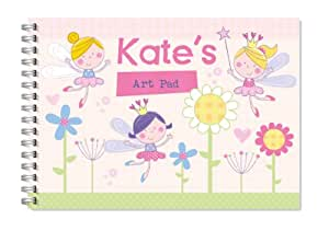 Children's Personalised Art/Drawing Pad A4 Flower Fairy