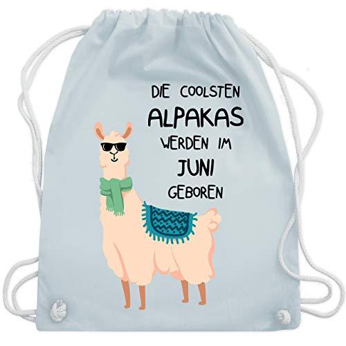 Geburtstag - Die coolsten Alpakas werden im Juni geboren Sonnenbrille - Unisize - Pastell Blau - WM110 - Turnbeutel & Gym Bag