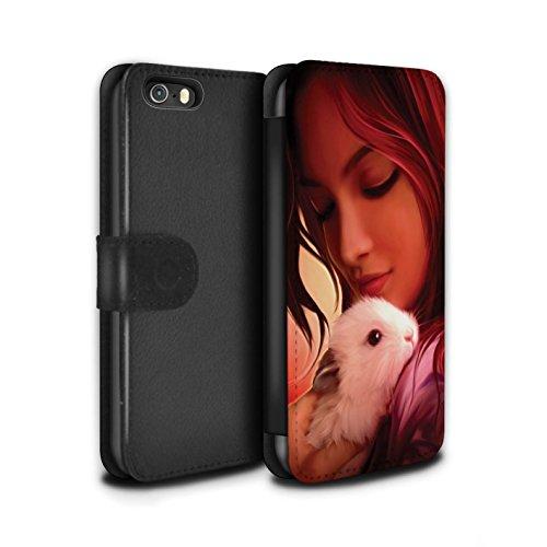 Officiel Elena Dudina Coque/Etui/Housse Cuir PU Case/Cover pour Apple iPhone 5/5S / Pack 16pcs Design / Les Animaux Collection Dans mes Bras/Sûr