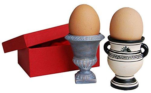 Eierbecher (zwei Stück) aus Porzellan 6,5 cm hoch (ohne Ei), Ø 3,9 cm 66071 \'\'Amphoren\'\' von Inkognito Künstler: INKOGNITO Lidwien Steenbrink Küche & Frühstück Haushalt Dies & Das