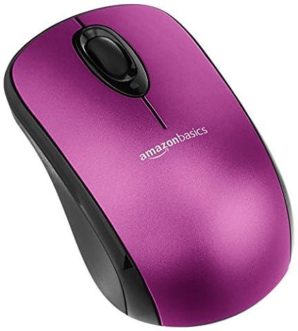 AmazonBasics Kabellose Maus mit Nano-Empfänger - Violett