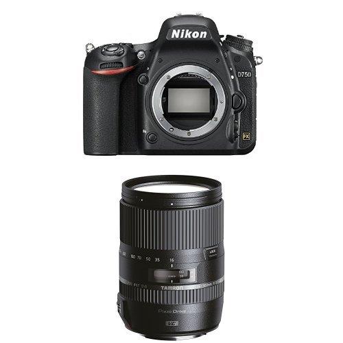Nikon D750 SLR-Digitalkamera nur Gehäuse schwarz + Tamron 16-300mm Objektiv (Nikon-digitalkamera-nur Gehäuse)