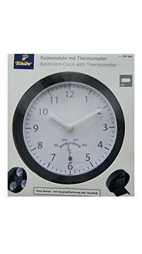 TCM Tchibo Uhr Wanduhr mit Saugnapf Badezimmeruhr Baduhr Badwanduhr clock bath