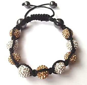 Shamballa Celebrity Choice Baby Pink and Silver Shamballa Crystal Diamante Clay Ball Bracelet