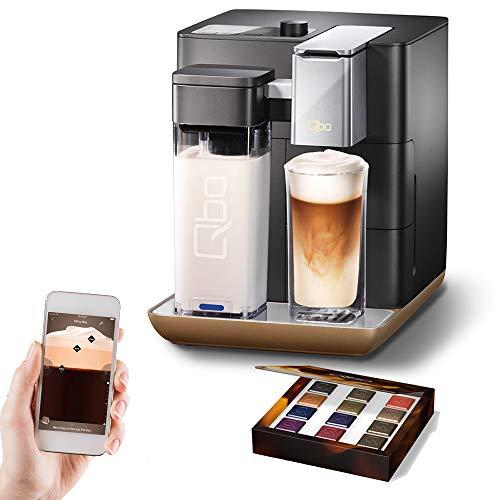 Kaffee Kapselmaschine inkl. Milchaufschäumer - Amazon Alexa kompatibel (Echo Dot) Black Matt ()