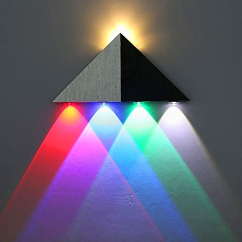 Homebase wall lights amazon bellken triangle shape aluminum 5 led 5w 4 coloured up down wall lights for bar bedroom living room corridor hallway dining room hotel room mozeypictures Gallery