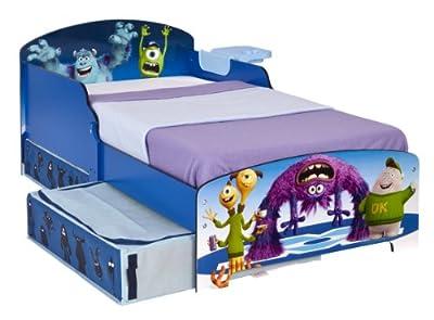 Cama Monsters para Niños con Estantería y Cajón de Almacenamiento