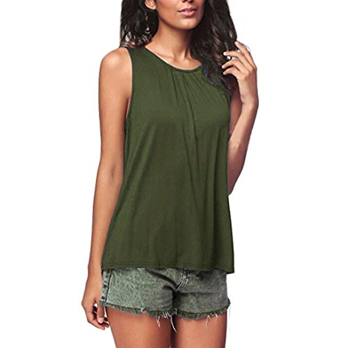 VJGOAL Solid Color Sleeveless Vest Top Women's Summer Fashion Sleeveless Tank Tops T-Shirt Blouse