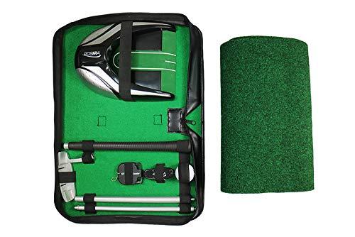 POSMA GSP140BK-B All-in-1 Golf-Putter, Geschenk-Set für Golf-Training, ideal für Indoor-Outdoor-Golf-Übungen – Aluminium Putter