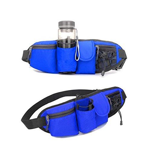 &zhou Kleine Taschen Freizeit Bergsteigen für Verwendung im freien Männer und Frauen kombiniert Geldbörsen Bewegung Schulter Umhängetasche deep blue