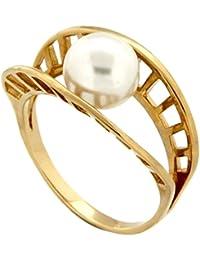 Bague - Plaqué or - Perle d'imitation - 5200311 BL