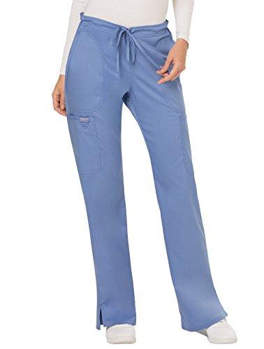 Cherokee Workwear Revolution Damen Hose, mittelhoch, mit Kordelzug - Blau - XXX-Large - Cherokee Flare Uniform