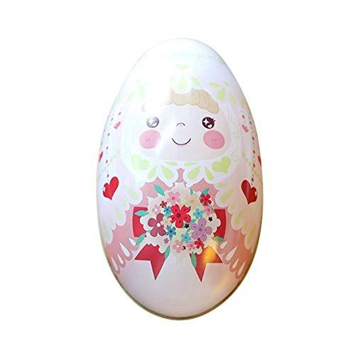 ASOSMOS 1 Stück Kinder Ostereier Candy Kiste Eierschale Stil Weißblech Geschenkbox Ostern Genuss Schachteln - Braut, Large