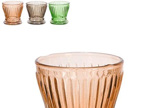 Bougeoir cylindre Pot Verre porte bougies TEA LITE Comptoir de Famille-Coloris Assortis