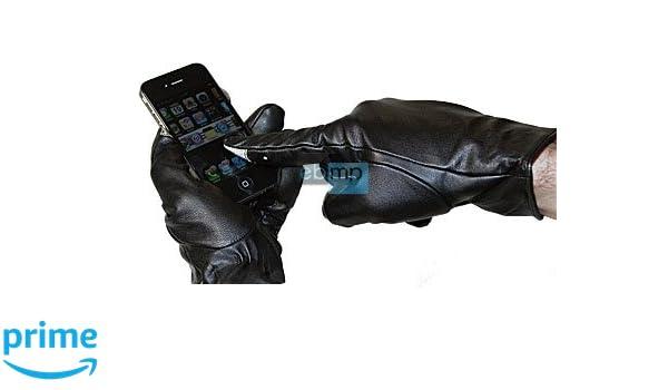 Haute touch gants pour ecran tactile téléphone portable pDA taille l   6, 5- 7 en cuir véritable  Amazon.fr  High-tech 355681bb311