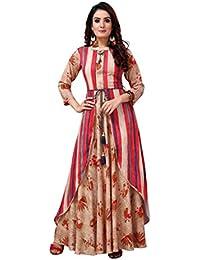 Madhuram Textiles Women's Rayon A-Line Kurti