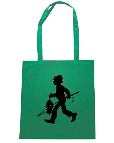 T-Shirtshock - Borsa Shopping FUN0475 3850 hunting decal sticker 16 30119 Verde