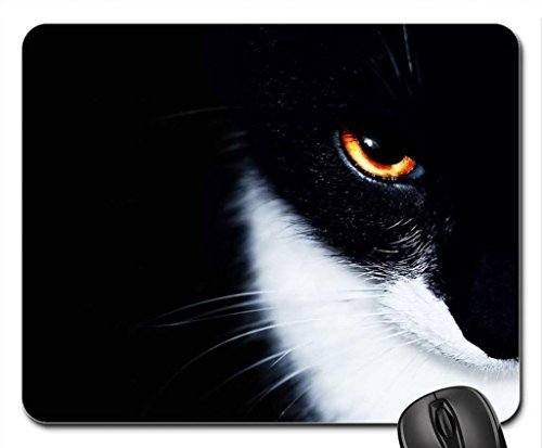 Mysterious Black Cat mouse pad, Mousepad (Cats mouse pad)