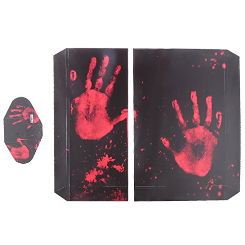 F Fityle Set für Sony PS4 Controller und Console Skin - Design Schutzfolie Sticker Aufkleber Set Styling Modding - Blut Hand