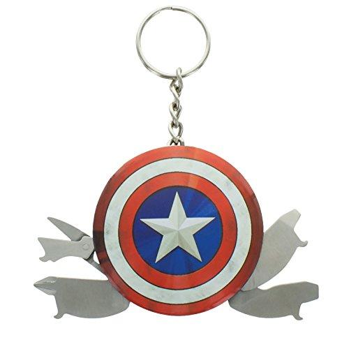 Paladone-GIFPAL198 Capitán América Llavero multiusos