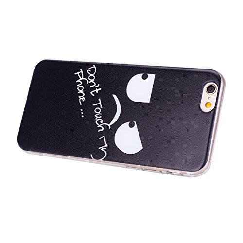Coque iPhone 6 Plus/6S Plus, iPhone 6S Plus Coque en Silicone bord [Ultra Hybrid] Transparent Housse Etui, iPhone 6 Plus Silicone bord Coque Clair Ultra-Mince Relief Slim Plastique arrière Étui Motif  Don't Touch My Phone