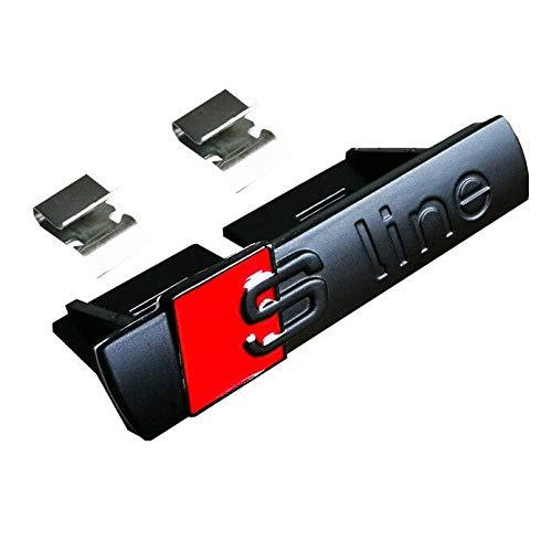 Schwarz glänzend 69mm x 14mm S Line Vorderes Grill Bonnet Abzeichen Emblem Für A1 A2 A3 A4 A5 A6 A8 TT S3 S4 S4 S5 S6 S7 S8