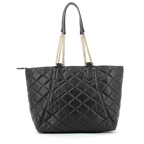 BORSA DONNA GUESS SHOPPING BAG KAT IN PELLE TRAPUNTATA BLACK 216 BLACK