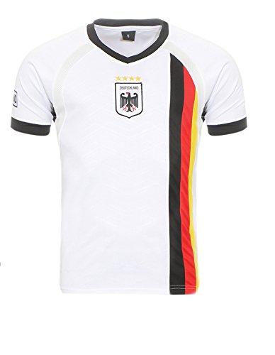 Matyfashion - Collection Herren Deutschland Fußballtrikot WM 2018 Fanshirt T-Shirt Nationalmannschaft in Farbe Weiß 5 (M) (Deutschland)