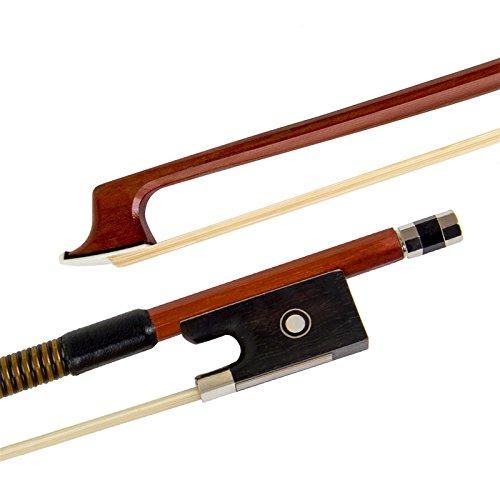 Kmise Nuez de ébano violín-Arco para violín (4/4piezas Pack de 1, Red 2