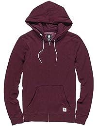 Cornell Overdye Zip Hoodie Größe: S Farbe: Rot