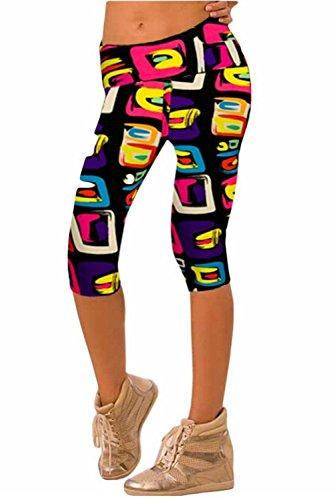 Alive Damen Leggings L Geometrical pattern