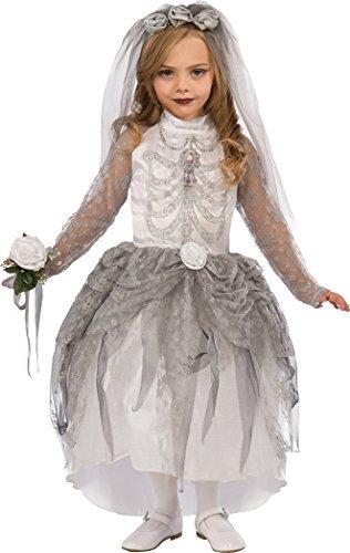 Onlyglobal Mädchen Halloween - gruselige Party Geist Zombie Brautkleid Skelett Braut Kostüm -...
