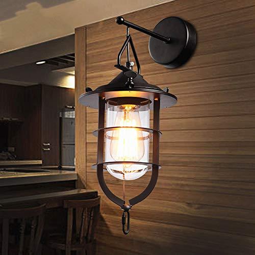 Vintage Retro Industrial 1-Leichter Käfig Klares Glas Nautische Aufhängung der Licht Wand Mit E27 Für Das Haus, Bar, Restaurant, Coffee Shop, Club Dekoration