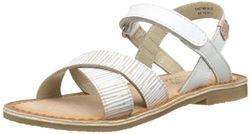 Zebra Peep-toe (Aster Mädchen Canissa Peep-Toe, Blanc (Blanc Zèbre), 26 EU)