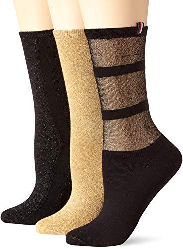 Tommy Hilfiger Damen Socken TH Women GIFTBOX 3P, 3er Pack, Schwarz (Black 200), 39/42