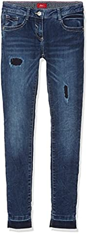 s.Oliver Mädchen Jeans Hose, Blau (Blue Denim 56Z6), 152 (Herstellergröße: