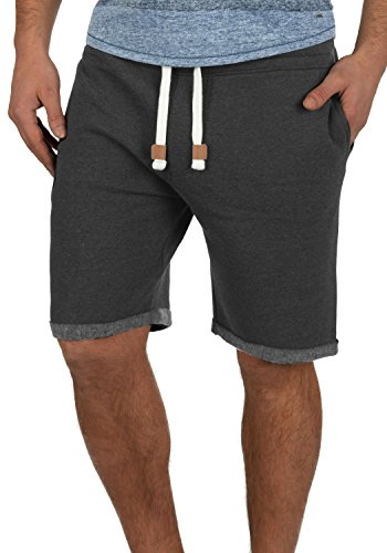Fleece Sweat (INDICODE Rion Sweatshorts, Größe:M;Farbe:Charcoal Mix (915))